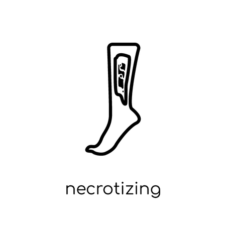 Necrotizing Fasciitis icon. Trendy modern flat linear vector Necrotizing Fasciitis icon on white background from thin line Diseases collection, editable outline stroke vector illustration