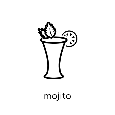 mojito icon. Trendy modern flat linear vector mojito icon on white background from thin line Drinks collection, outline vector illustration