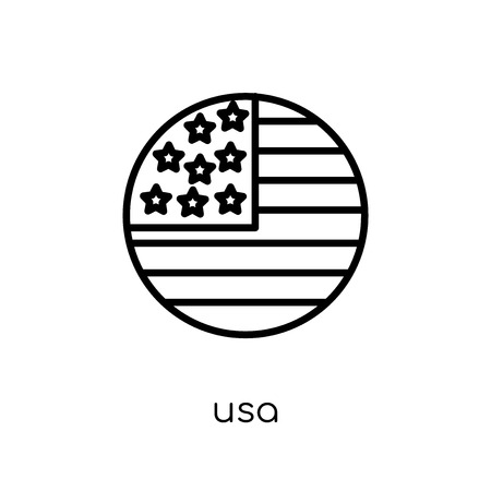 Usa icon. Trendy modern flat linear vector Usa icon on white background from thin line United States of America collection, editable outline stroke vector illustration