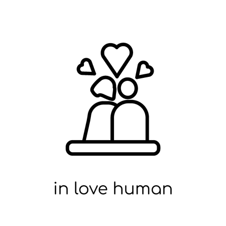in love human icon. Trendy modern flat linear vector in love human icon on white background from thin line Feelings collection, editable outline stroke vector illustration
