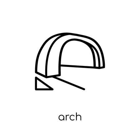 Arch icon. Trendy modern flat linear vector Arch icon on white background from thin line Architecture and Travel collection, editable outline stroke vector illustration Illustration