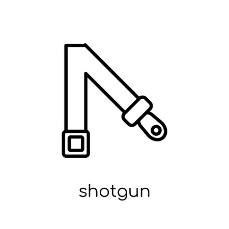 shotgun icon. Trendy modern flat linear vector shotgun icon on white background from thin line Army collection, outline vector illustration