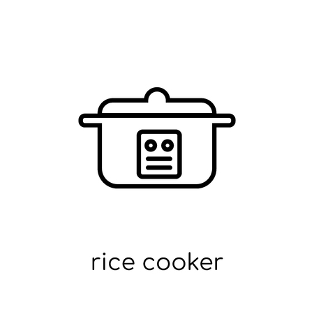 rice cooker icon. Trendy modern flat linear vector rice cooker icon on white background from thin line Electronic devices collection, outline vector illustration Stock Vector - 111333124