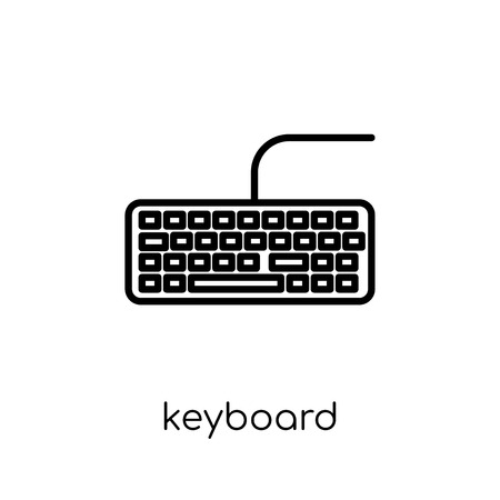 keyboard icon. Trendy modern flat linear vector keyboard icon on white background from thin line Electronic devices collection, outline vector illustration
