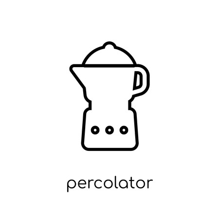 percolator icon. Trendy modern flat linear vector percolator icon on white background from thin line Electronic devices collection, outline vector illustration