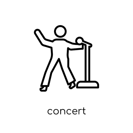 concert icon. Trendy modern flat linear vector concert icon on white background from thin line Entertainment collection, outline vector illustration 向量圖像