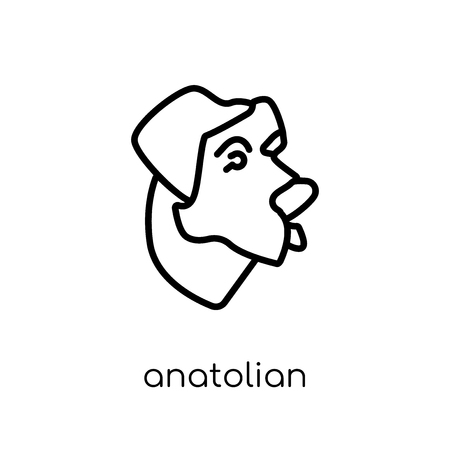 Anatolian Shepherd Dog dog icon. Trendy modern flat linear vector Anatolian Shepherd Dog dog icon on white background from thin line dogs collection, editable outline stroke vector illustration Stok Fotoğraf - 112235262