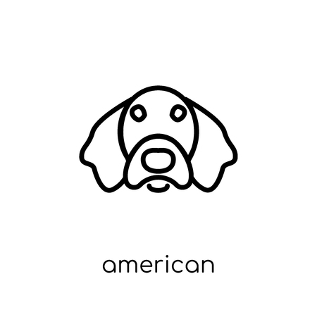 American Leopard Hound dog icon. Trendy modern flat linear vector American Leopard Hound dog icon on white background from thin line dogs collection, editable outline stroke vector illustration