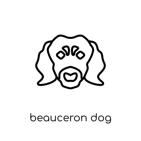 Beauceron dog icon. Trendy modern flat linear vector Beauceron dog icon on white background from thin line dogs collection, editable outline stroke vector illustration