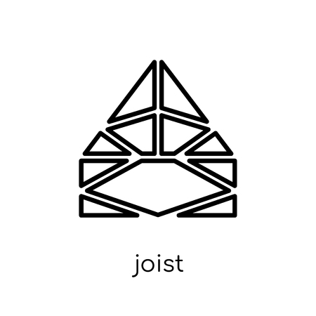 Joist icon. Trendy modern flat linear vector Joist icon on white background from thin line Construction collection, editable outline stroke vector illustration