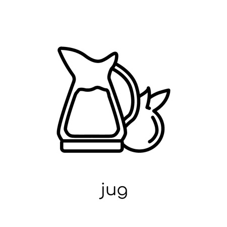 jug icon. Trendy modern flat linear vector jug icon on white background from thin line Drinks collection, outline vector illustration Stock Illustratie