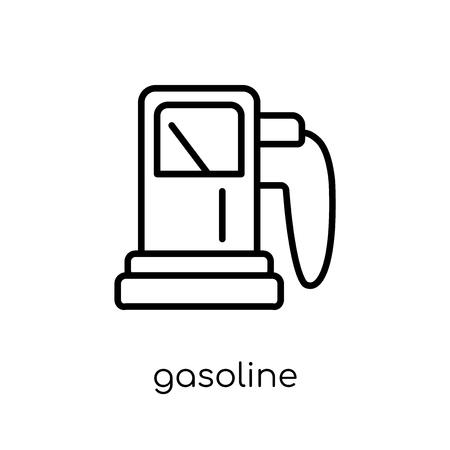 benzine icoon. Trendy modern plat lineaire vector benzine icoon op een witte achtergrond van dunne lijn ecologie collectie, overzicht vectorillustratie