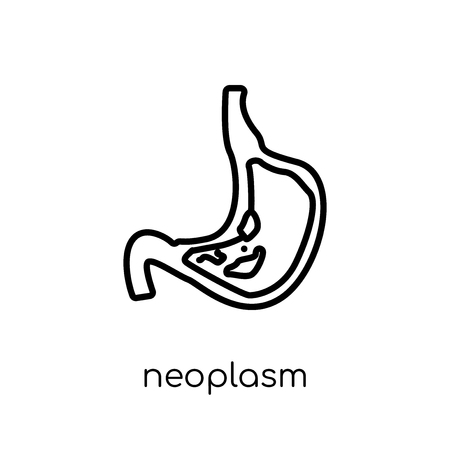 Neoplasm icon. Trendy modern flat linear vector Neoplasm icon on white background from thin line Diseases collection, editable outline stroke vector illustration