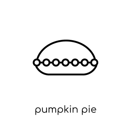 Pumpkin Pie icon. Trendy modern flat linear vector Pumpkin Pie icon on white background from thin line United States of America collection, editable outline stroke vector illustration
