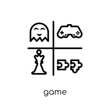 game icon. Trendy modern flat linear vector game icon on white background from thin line Entertainment collection, outline vector illustration