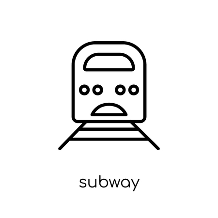 subway icon. Trendy modern flat linear vector subway icon on white background from thin line collection, outline vector illustration 向量圖像