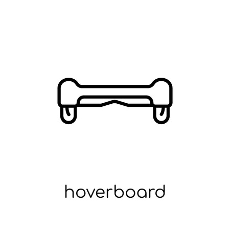 Hoverboard icon. Trendy modern flat linear vector Hoverboard icon on white background from thin line Electronic devices collection, editable outline stroke vector illustration