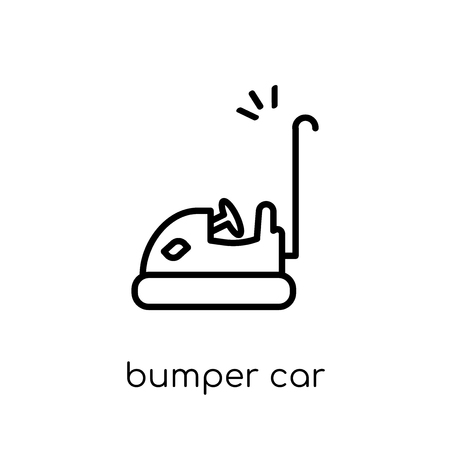 bumper car icon. Trendy modern flat linear vector bumper car icon on white background from thin line Entertainment collection, outline vector illustration Illustration
