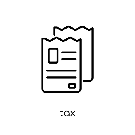 tax icon. Trendy modern flat linear vector tax icon on white background from thin line Payment collection, outline vector illustration