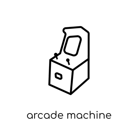 arcade machine icon. Trendy modern flat linear vector arcade machine icon on white background from thin line Entertainment collection, outline vector illustration Illustration