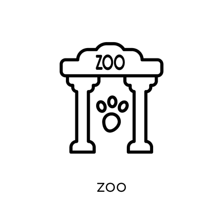 zoo icon. Trendy modern flat linear vector zoo icon on white background from thin line Entertainment collection, outline vector illustration