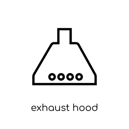 exhaust hood icon. Trendy modern flat linear vector exhaust hood icon on white background from thin line Electronic devices collection, outline vector illustration