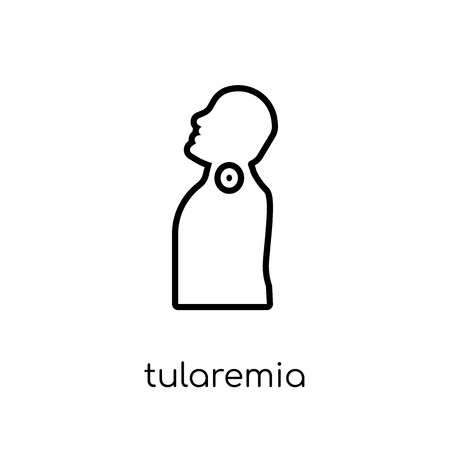 Tularemia icon. Trendy modern flat linear vector Tularemia icon on white background from thin line Diseases collection, editable outline stroke vector illustration Illustration
