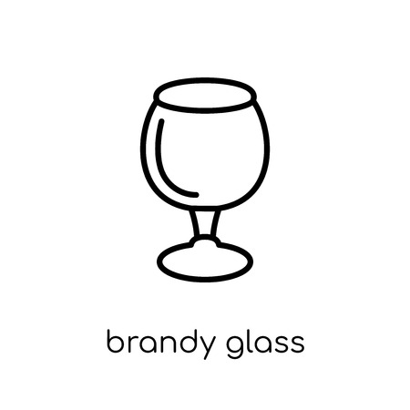 brandy glass icon. Trendy modern flat linear vector brandy glass icon on white background from thin line Drinks collection, outline vector illustration Illustration