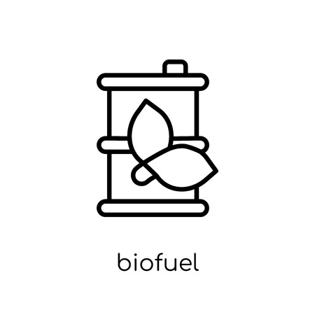 biofuel icon. Trendy modern flat linear vector biofuel icon on white background from thin line Ecology collection, outline vector illustration