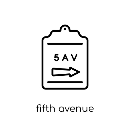 Fifth avenue icon. Trendy modern flat linear vector Fifth avenue icon on white background from thin line United States of America collection, editable outline stroke vector illustration Stock Illustratie