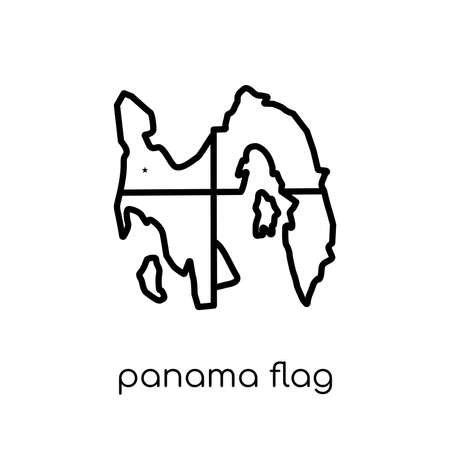 Panama flag icon. Trendy modern flat linear vector Panama flag icon on white background from thin line Country Flags collection, editable outline stroke vector illustration 矢量图像