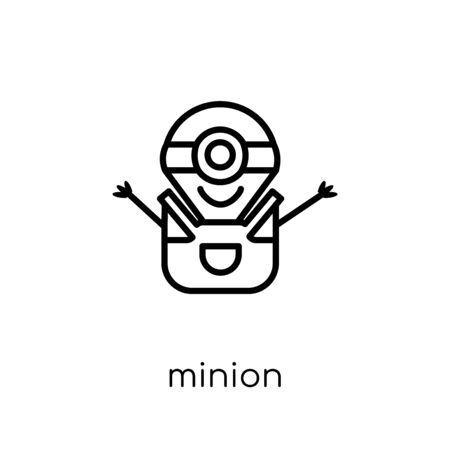 minion icon. Trendy modern flat linear vector minion icon on white background from thin line Entertainment collection, outline vector illustration