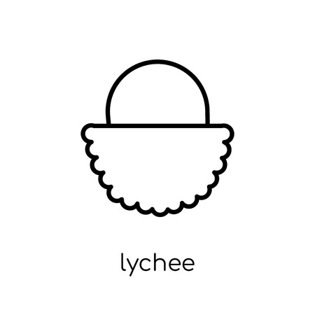 lychee icon. Trendy modern flat linear vector lychee icon on white background from thin line Fruit and vegetables collection, outline vector illustration Banque d'images - 112230397