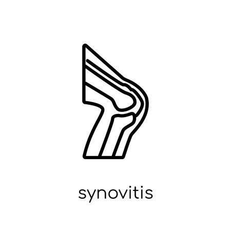 Synovitis icon. Trendy modern flat linear vector Synovitis icon on white background from thin line Diseases collection, editable outline stroke vector illustration