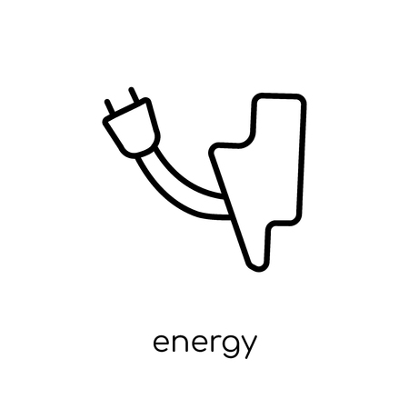energy icon. Trendy modern flat linear vector energy icon on white background from thin line Ecology collection, outline vector illustration