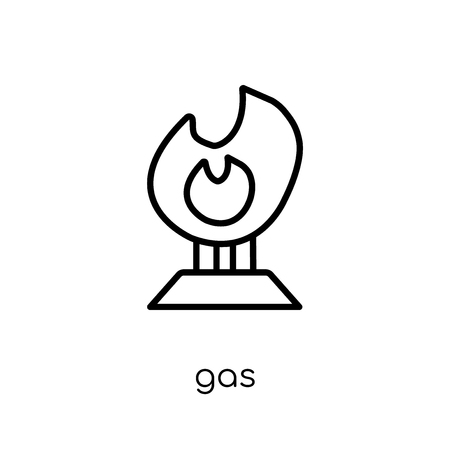 gas icon. Trendy modern flat linear vector gas icon on white background from thin line Ecology collection, outline vector illustration