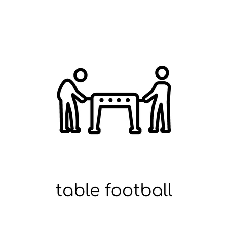 table football icon. Trendy modern flat linear vector table football icon on white background from thin line Entertainment collection, outline vector illustration