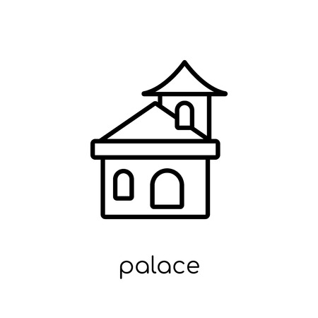 Palace icon. Trendy modern flat linear vector Palace icon on white background from thin line Fairy Tale collection, editable outline stroke vector illustration Illustration