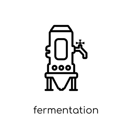 fermentation icon. Trendy modern flat linear vector fermentation icon on white background from thin line Drinks collection, outline vector illustration Foto de archivo - 112229888