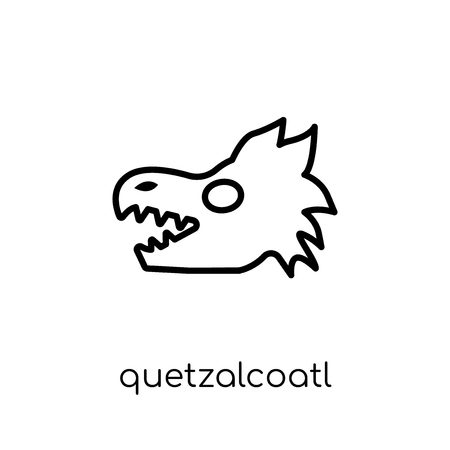 Quetzalcoatl icon. Trendy modern flat linear vector Quetzalcoatl icon on white background from thin line Fairy Tale collection, editable outline stroke vector illustration