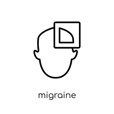 Migraine icon. Trendy modern flat linear vector Migraine icon on white background from thin line Diseases collection, editable outline stroke vector illustration