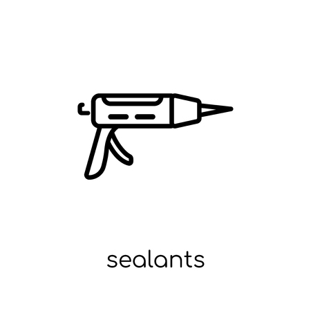 Sealants icon. Trendy modern flat linear vector Sealants icon on white background from thin line Dentist collection, editable outline stroke vector illustration