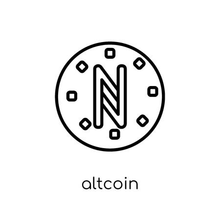 Altcoin icon. Trendy modern flat linear vector Altcoin icon on white background from thin line Cryptocurrency economy and finance collection, editable outline stroke vector illustration