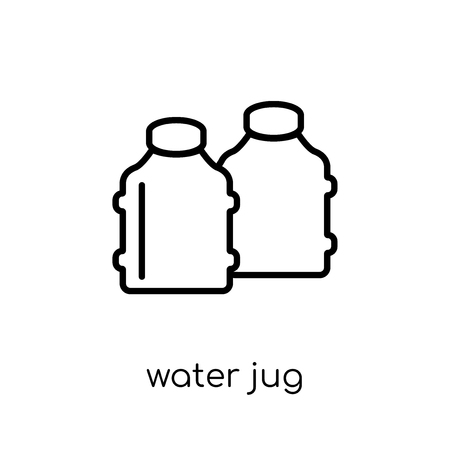 water jug icon. Trendy modern flat linear vector water jug icon on white background from thin line Drinks collection, outline vector illustration