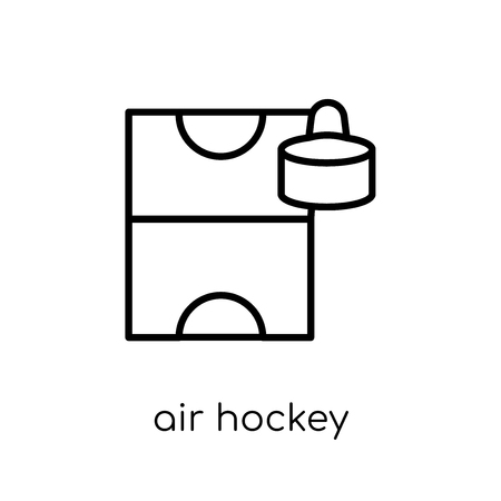 air hockey icon. Trendy modern flat linear vector air hockey icon on white background from thin line Arcade collection, outline vector illustration Stock Illustratie