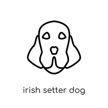 Irish Setter dog icon. Trendy modern flat linear vector Irish Setter dog icon on white background from thin line dogs collection, editable outline stroke vector illustration