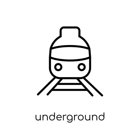 underground icon. Trendy modern flat linear vector underground icon on white background from thin line collection, outline vector illustration