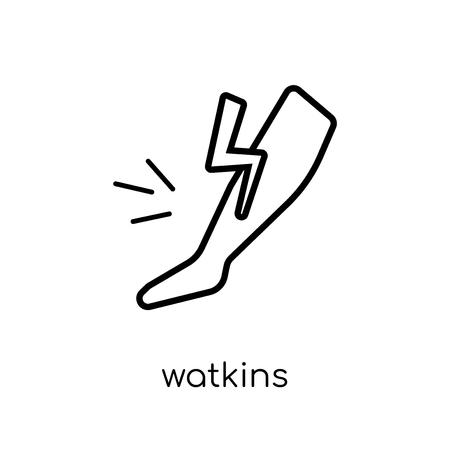 Watkins icon. Trendy modern flat linear vector Watkins icon on white background from thin line Diseases collection, editable outline stroke vector illustration