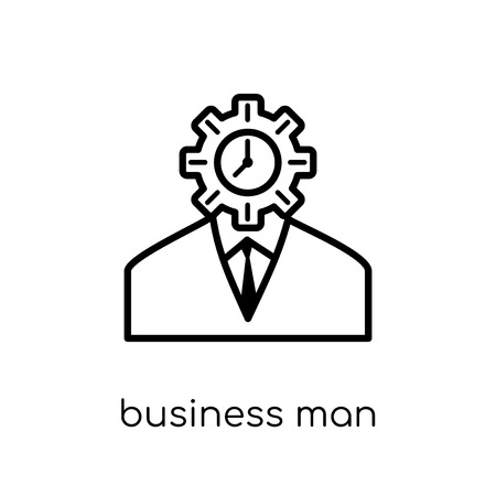 Business man icon. Trendy modern flat linear vector Business man icon on white background from thin line Luxury collection, editable outline stroke vector illustration