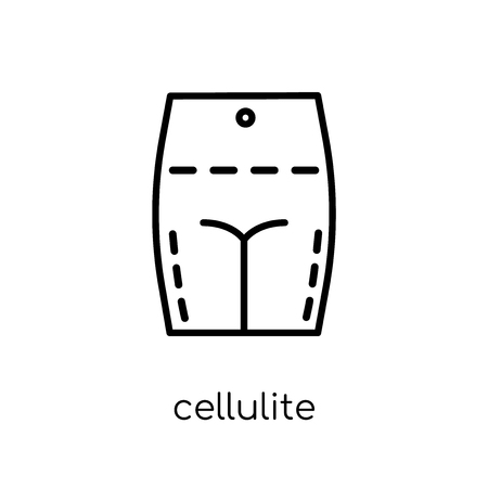 Cellulite icon. Trendy modern flat linear vector Cellulite icon on white background from thin line Human Body Parts collection, editable outline stroke vector illustration